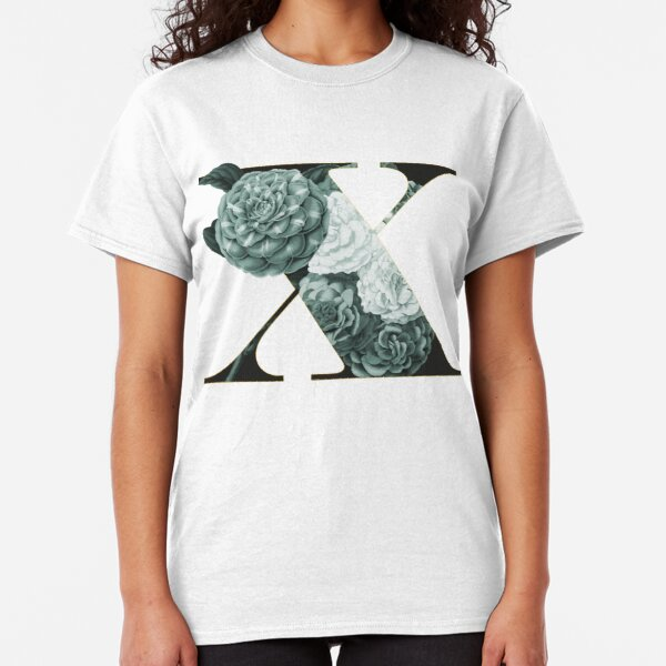 Flower Alphabet X Classic T-Shirt