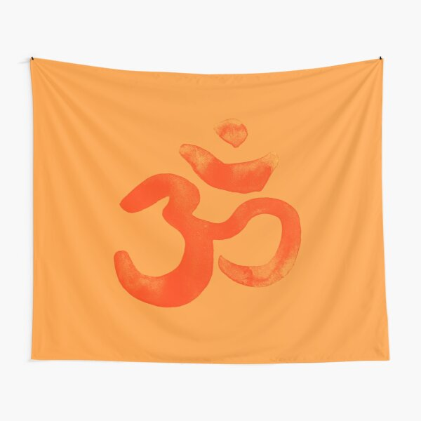 Om, aum,  Meditation Relaxation Typography Hand written Tapestry