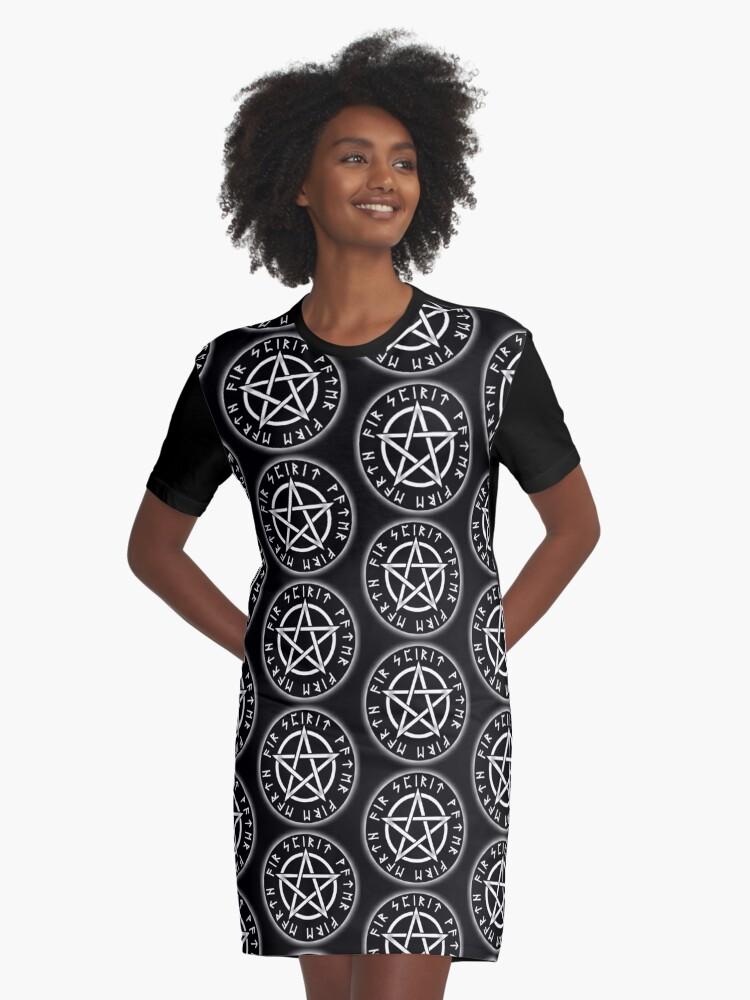 Pagan T Shirt Do No Harm Pentacle Ladies Witchcraft Spiritual Wicca Top XS-2XL