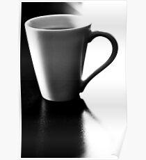 Black Coffee White Mug Poster