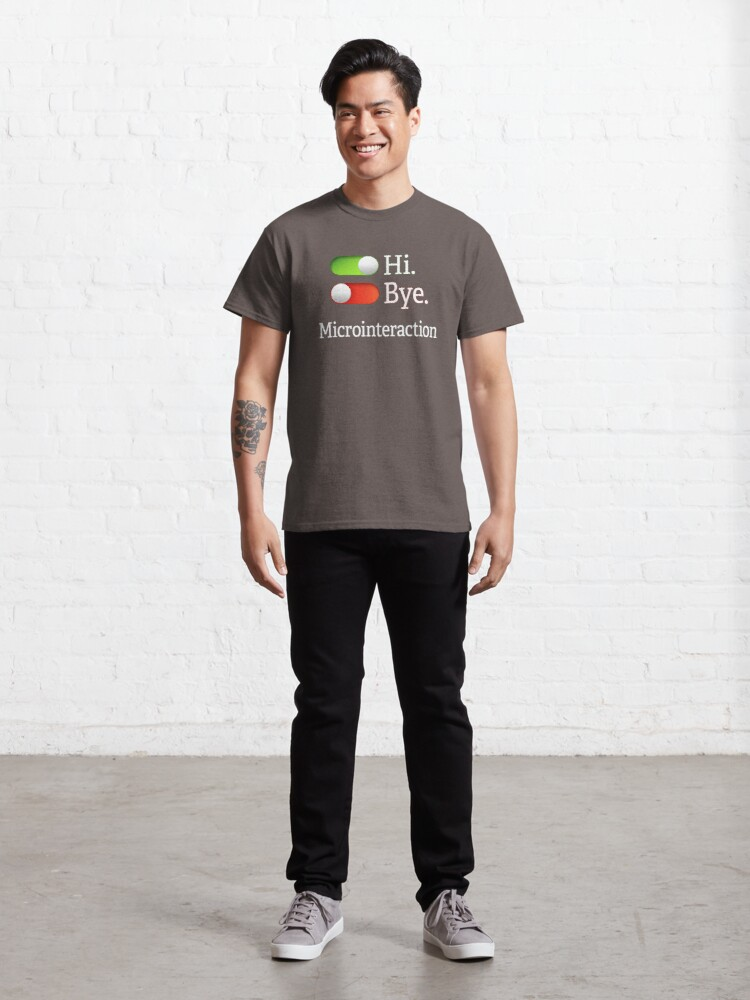 Alternate view of Microinteractions. Classic T-Shirt