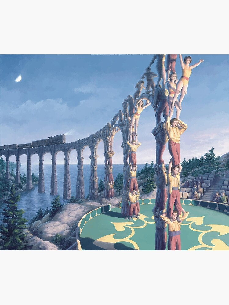 Rob Gonsalves Acrobatic Engineering M.C. Escher Surrealism Surrealist Art Painting Banksy Dali  by bufumofo