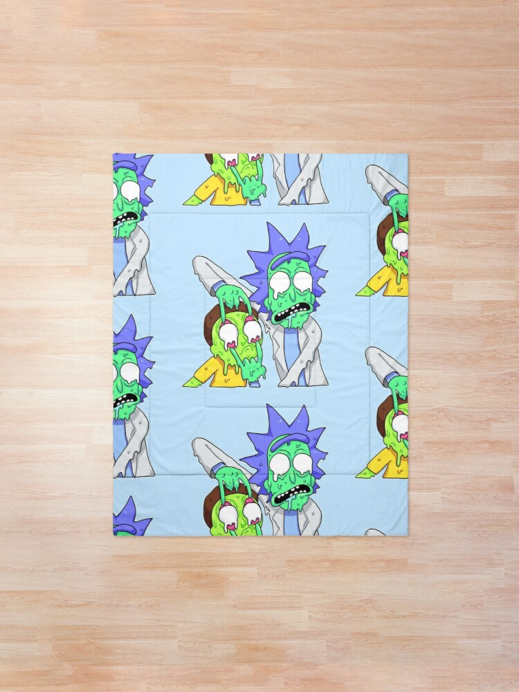 Alternate view of Rick and Morty  Comforter