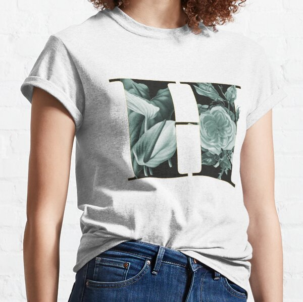 Flower Alphabet H Classic T-Shirt