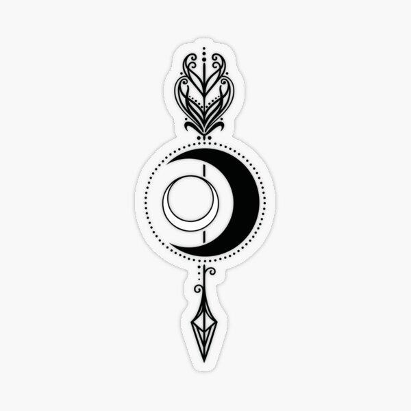 Göttin Diana Mond mit Pfeil und Bogen Transparenter Sticker