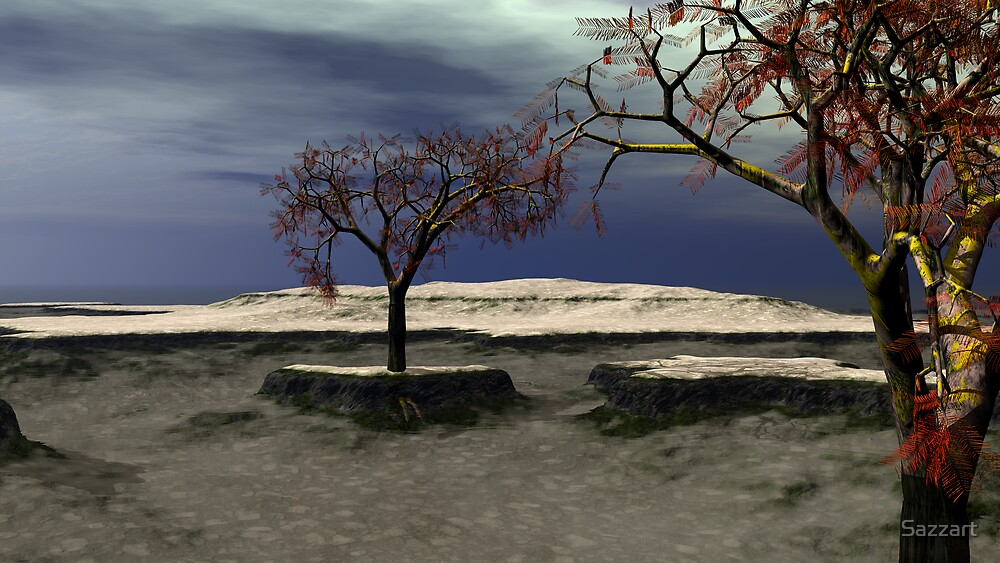 The Last Monkey Puzzle Trees by Sazzart