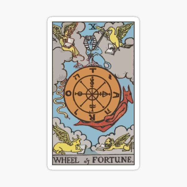 Tarot - Wheel of Fortune Sticker