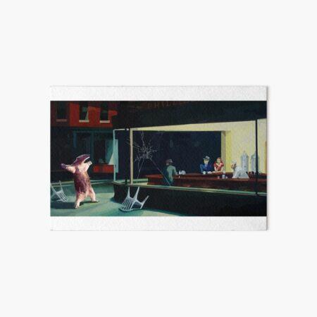Banksy Nighthawks Anteater Edward Hopper Impression rigide