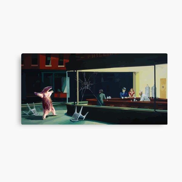 Banksy Nighthawks Ameisenbär Edward Hopper Leinwanddruck