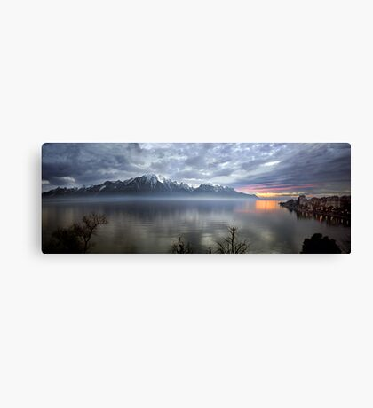 Mountain Lake at Dusk Canvas Print