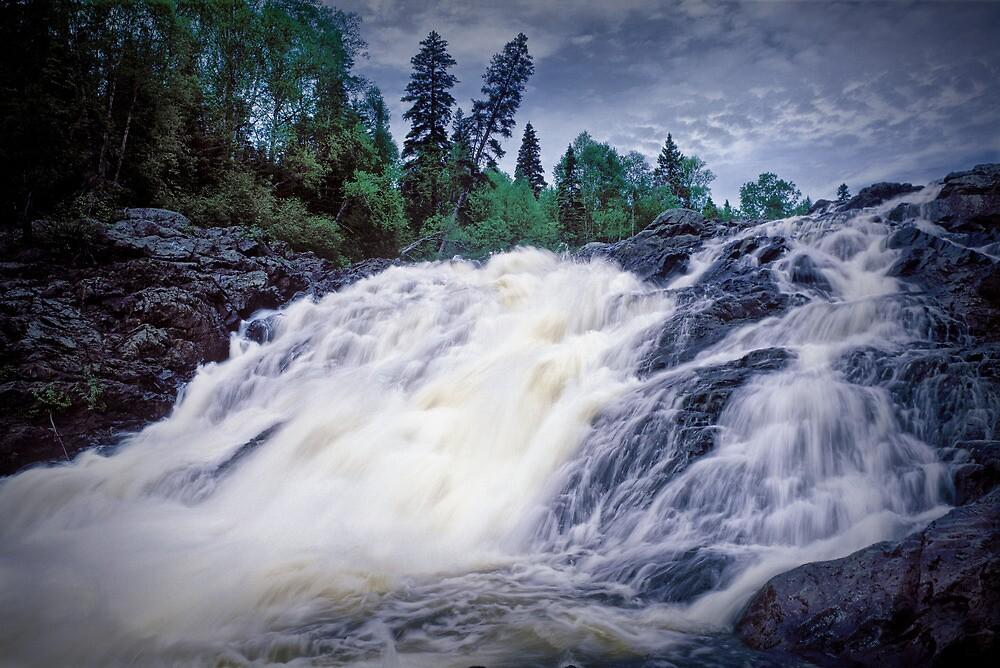 Lower Falls at Wawa Ontario by Randall Nyhof