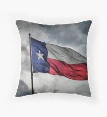Texas Flying in the Wind Throw Pillow