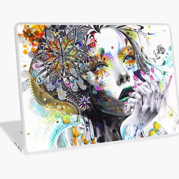 Banksy Urban Princess Graffiti Oil Painting Laptop Skin