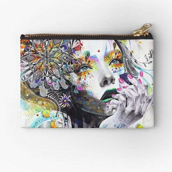 Banksy Urban Princess Graffiti Oil Painting Zipper Pouch