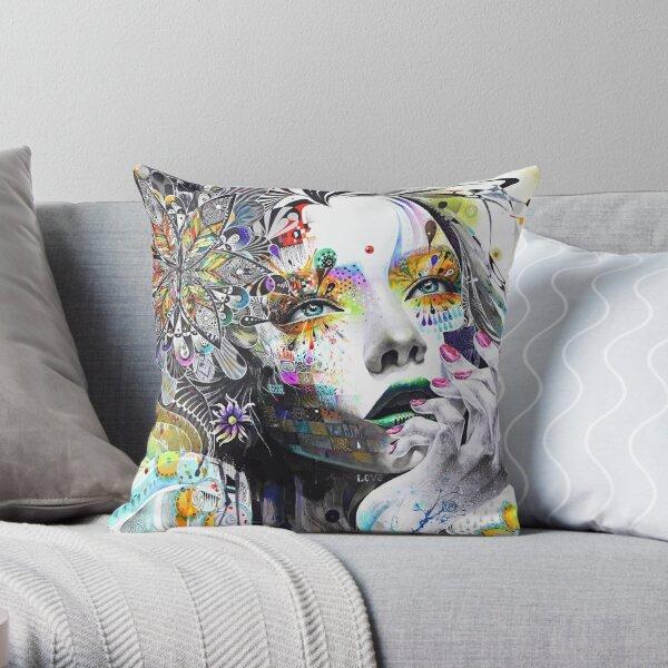 Banksy Urban Princess Graffiti Oil Painting Throw Pillow