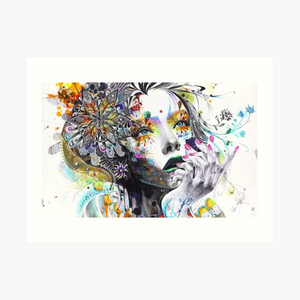 Banksy Urban Princess Graffiti Oil Painting Art Print