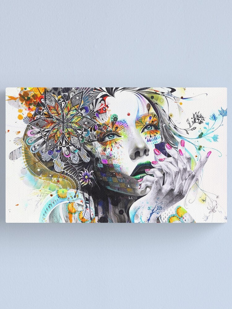 Alternate view of Banksy Urban Princess Graffiti Oil Painting Canvas Print