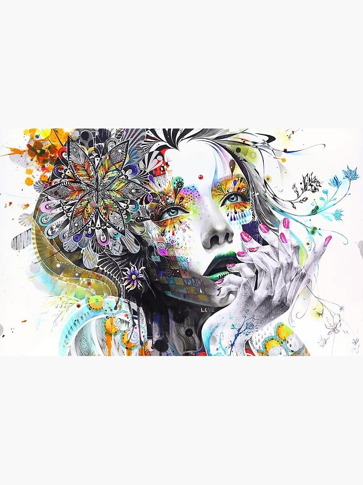 Banksy Urban Princess Graffiti Oil Painting by bufumofo
