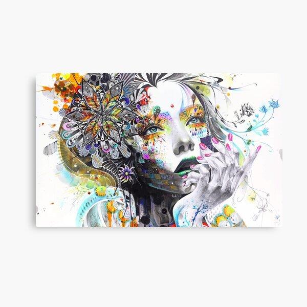 Banksy Urban Princess Graffiti Oil Painting Metal Print