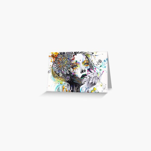Banksy Urban Princess Graffiti Oil Painting Greeting Card