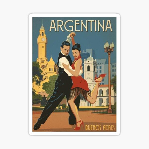 vintage, Argentina, Buenos Aires, tango Pegatina