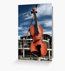 The Big Fiddle Greeting Card
