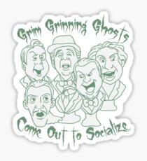 Grim Grinning Ghosts Sticker