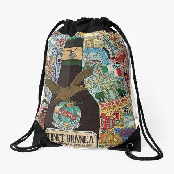 vintage Argentina Fernet Branca Drawstring Bag