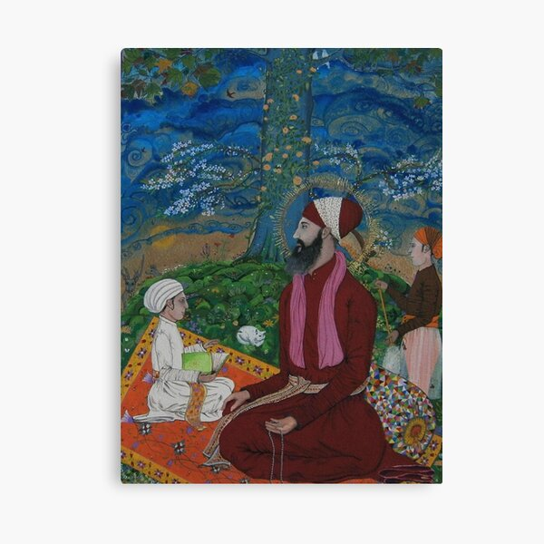 Guru Ram Das Meditating Under A Chenar Tree Canvas Print