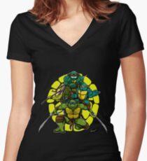 Ninja Turtle Women's Fitted V-Neck T-Shirt