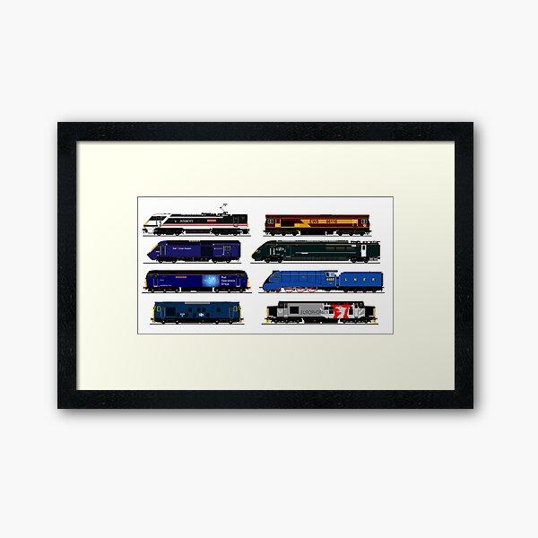 legendary british locomotives Framed Art Print