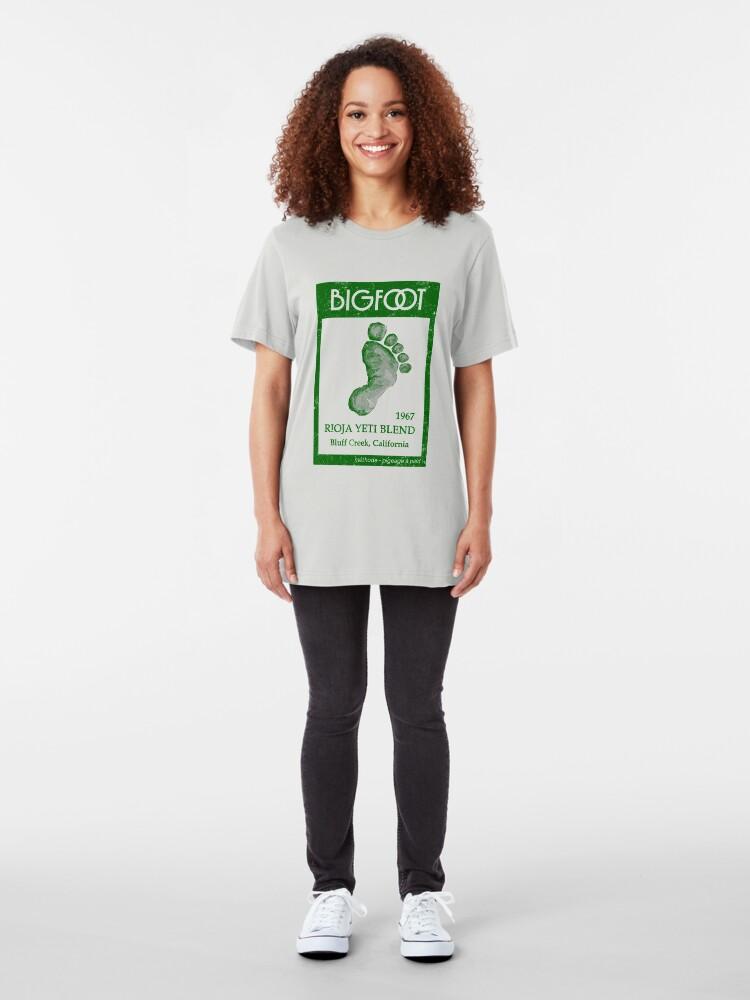 Alternate view of Bigfoot Wine Slim Fit T-Shirt