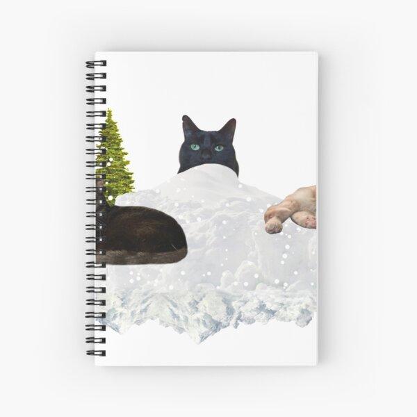 Blue Christmas V4 Spiral Notebook