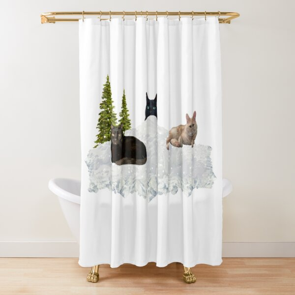Blue Christmas V4 Shower Curtain