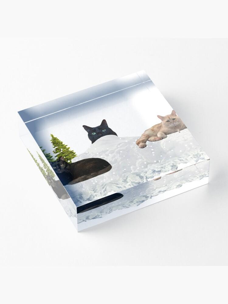 Alternate view of Blue Christmas V4 Acrylic Block