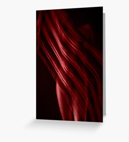 Scarf with Stripes in Red Greeting Card