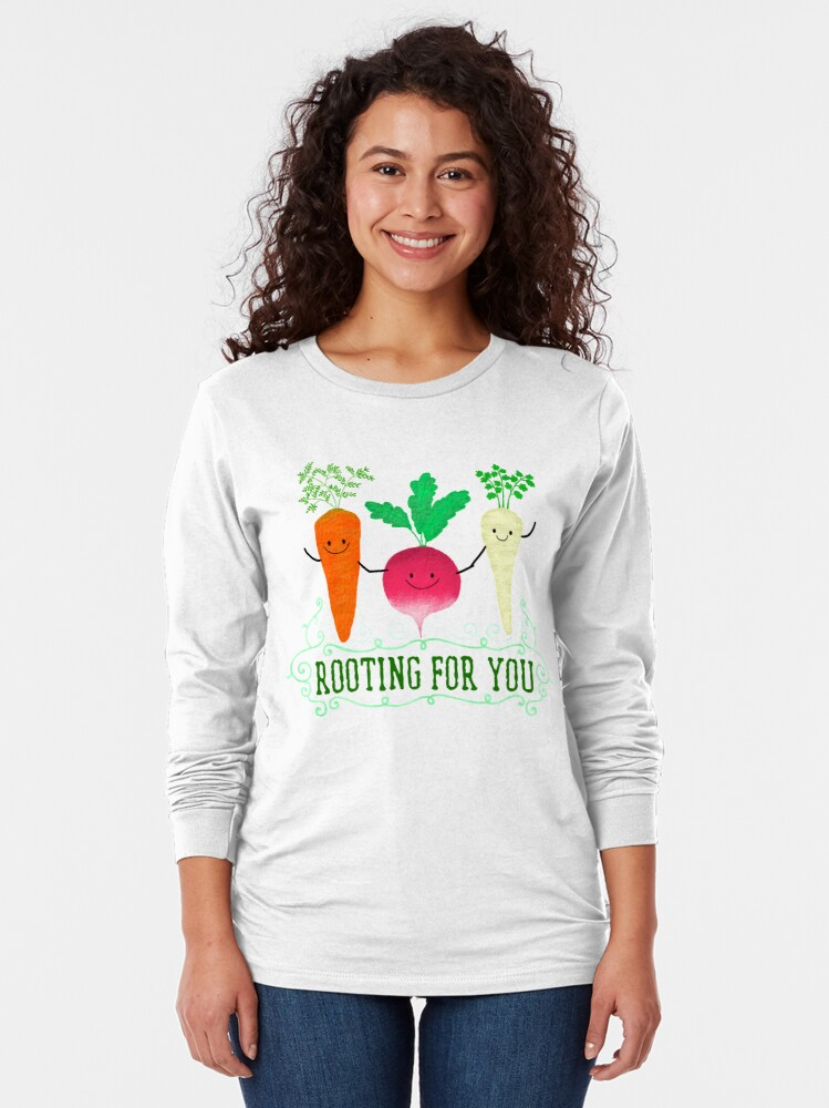 Alternate view of Rooting for you - Punny Garden Long Sleeve T-Shirt