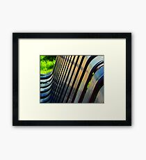 Bench Abstract Framed Print