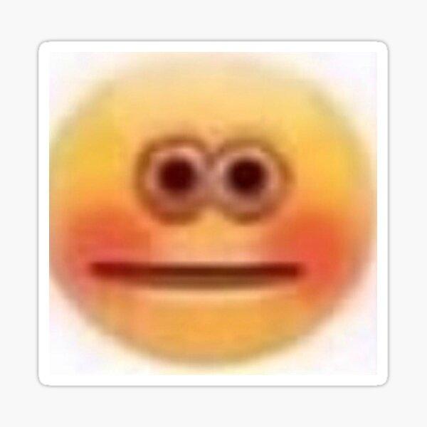 Stickers Sur Le Theme Emoji Rougissant Redbubble