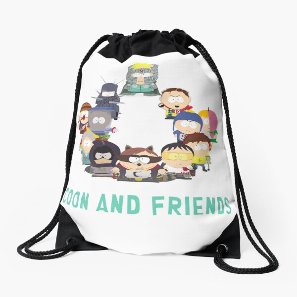 Coon and Friends Drawstring Bag