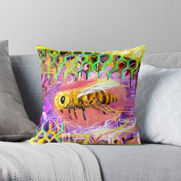 Vee Bee Throw Pillow