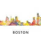 Boston, Massachusetts Skyline WB1 von Marlene Watson