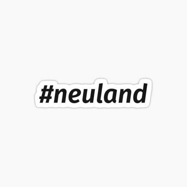 #neuland - contour cut Sticker