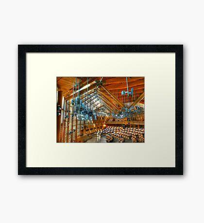 Scottish Parliament Debating Chamber Framed Print