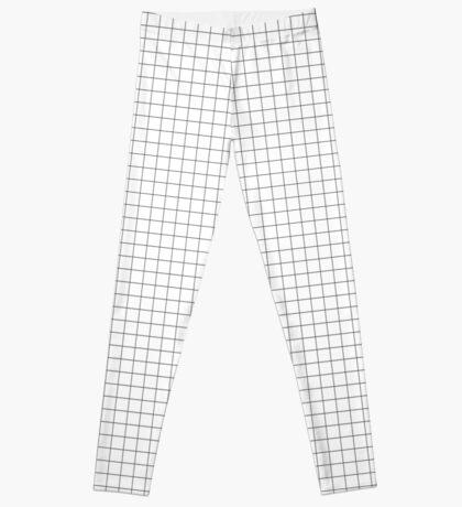 Black Grid Leggings