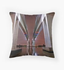 Twin Bridges - Brisbane City Qld Throw Pillow