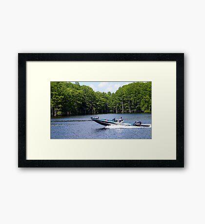 Bass Boat Framed Print