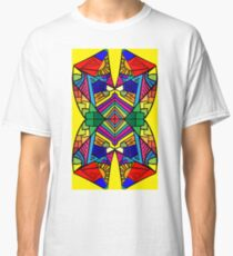 Colorful Psychedelic Pattern Classic T-Shirt