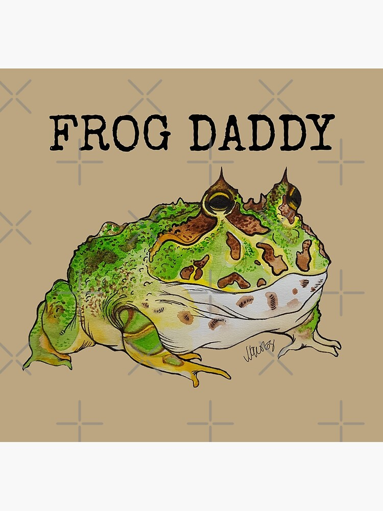 Frog Daddy Pacman Frog Greeting Card By Bluejayknits Redbubble