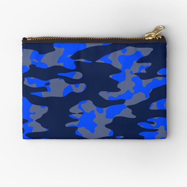 Camo Blues Zipper Pouch